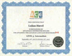 Certifikát ESL - English as a Second Language